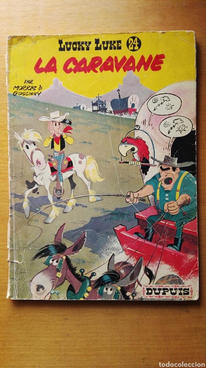 LUCKY LUKE LA CARAVANE N° 24 DUPUIS 1968 EN FRANCÉS (Tebeos y Comics - Comics Lengua Extranjera - Comics Europeos)