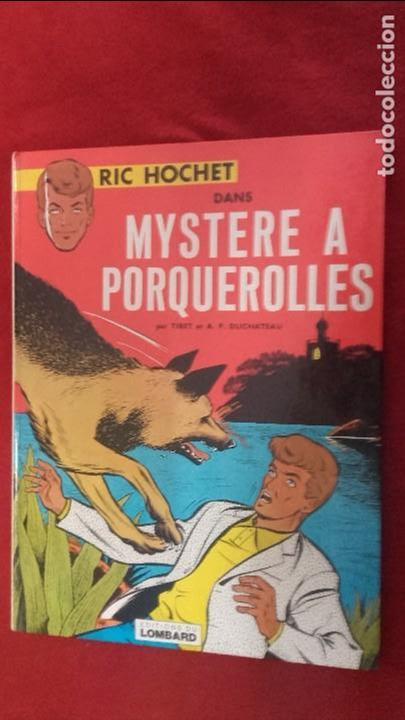 RIC HOCHET - MYSTERE A PORQUEROLLES - TIBET & DUCHATEAU - ED. LOMBARD - CARTONE - EN FRANCES (Tebeos y Comics - Comics Lengua Extranjera - Comics Europeos)