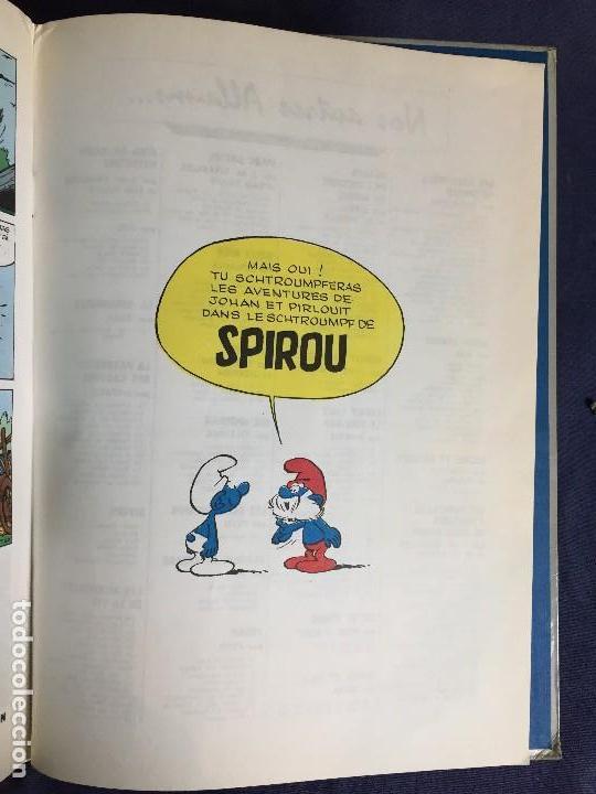 Cómics: LA FLÛTE À SIX SCHTROUMPFS JOHAN ET PIRLOUIT PEYO DUPUIS 1965 LOS PITUFOS CÓMIC francés 30X21,5CMS - Foto 2 - 120912699