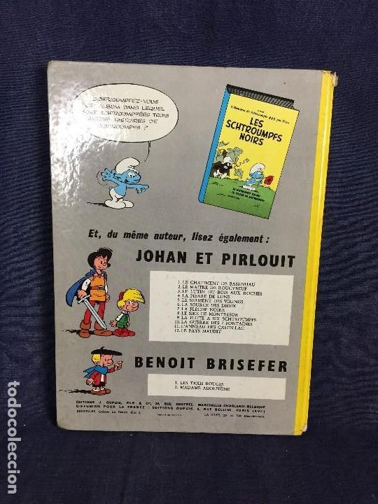 Cómics: LA FLÛTE À SIX SCHTROUMPFS JOHAN ET PIRLOUIT PEYO DUPUIS 1965 LOS PITUFOS CÓMIC francés 30X21,5CMS - Foto 4 - 120912699
