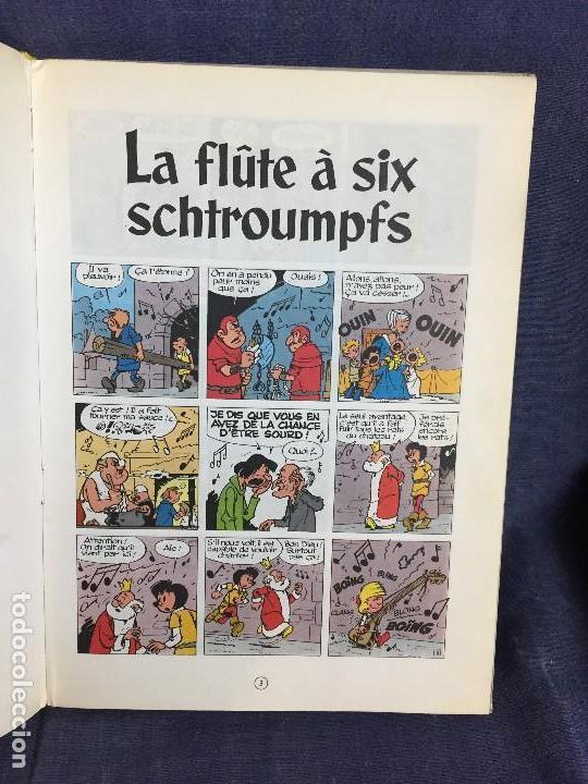 Cómics: LA FLÛTE À SIX SCHTROUMPFS JOHAN ET PIRLOUIT PEYO DUPUIS 1965 LOS PITUFOS CÓMIC francés 30X21,5CMS - Foto 7 - 120912699