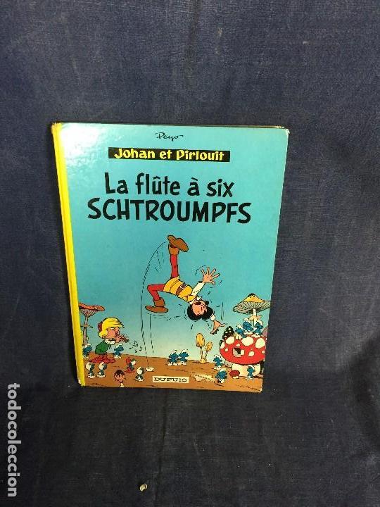 LA FLÛTE À SIX SCHTROUMPFS JOHAN ET PIRLOUIT PEYO DUPUIS 1965 LOS PITUFOS CÓMIC FRANCÉS 30X21,5CMS (Tebeos y Comics - Comics Lengua Extranjera - Comics Europeos)