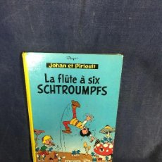 Cómics: LA FLÛTE À SIX SCHTROUMPFS JOHAN ET PIRLOUIT PEYO DUPUIS 1965 LOS PITUFOS CÓMIC FRANCÉS 30X21,5CMS. Lote 192517478