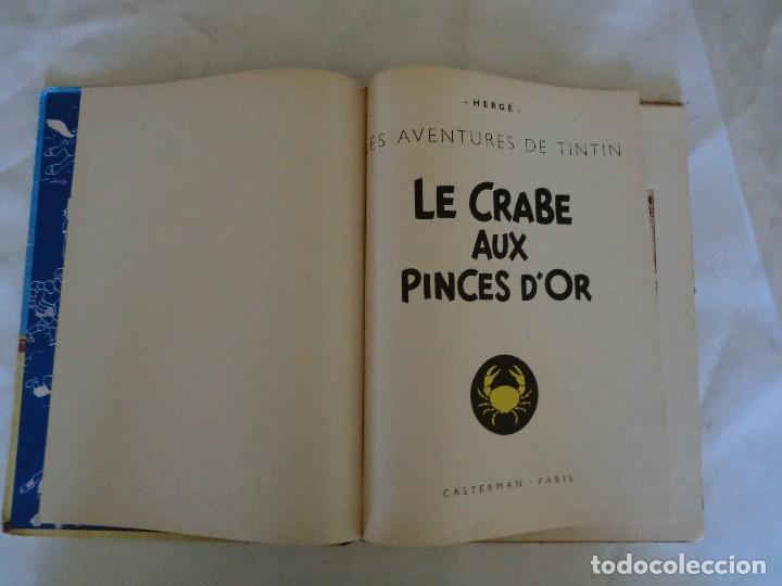 Cómics: LES AVENTURES DE TINTIN LE CRABE AUX PINCES D´OR. ED. 1957 B23 Casterman.Hergé.Francia.. - Foto 4 - 121234207
