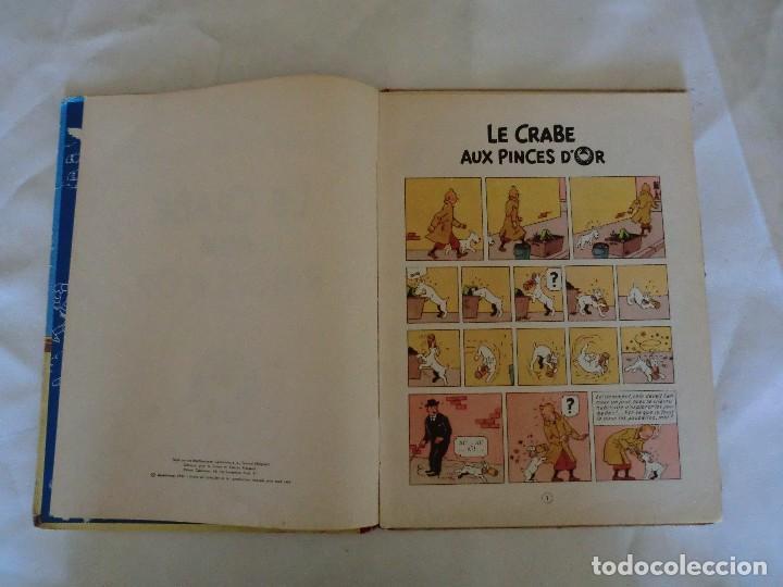 Cómics: LES AVENTURES DE TINTIN LE CRABE AUX PINCES D´OR. ED. 1957 B23 Casterman.Hergé.Francia.. - Foto 5 - 121234207