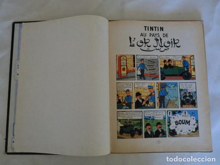 Cómics: LES AVENTURES DE TINTIN AU PAYS DE LOR NOIR. ED. 1960 B29 Casterman Hergé.Francia.. - Foto 5 - 121236279
