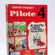 Cómics: SUPER POCKET PILOTE 4. LE JOURNAL D'ASTERIX ET D'OBELIX (VVAA) DARGAUD, 1969. EN FRANCES. Lote 121976794