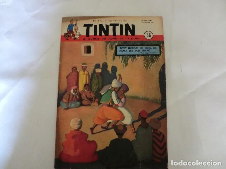 TINTIN LE JOURNAL DE JEUNES DE 7 A 77 ANS.6º ANNÉE 1951 Nº 36.ED.BELGA (Tebeos y Comics - Comics Lengua Extranjera - Comics Europeos)