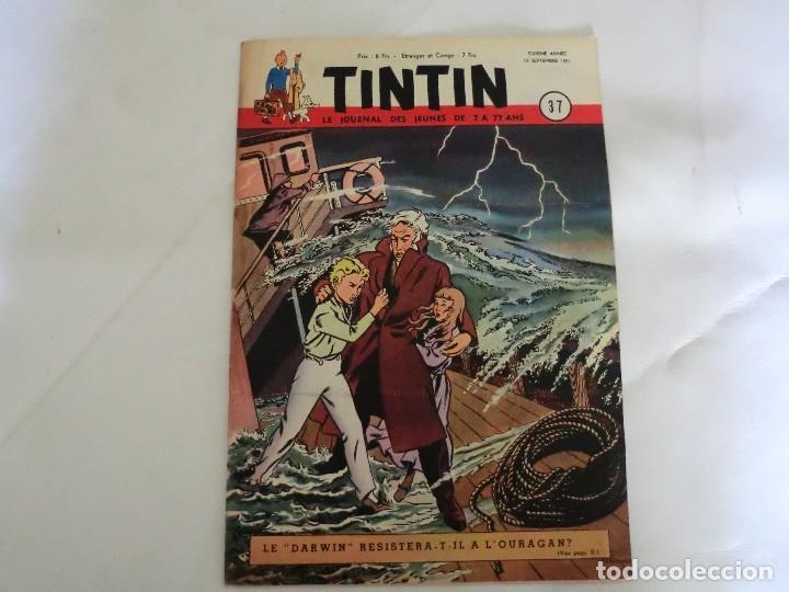 TINTIN LE JOURNAL DE JEUNES DE 7 A 77 ANS.6º ANNÉE 1951 Nº 37 .ED.BELGA (Tebeos y Comics - Comics Lengua Extranjera - Comics Europeos)