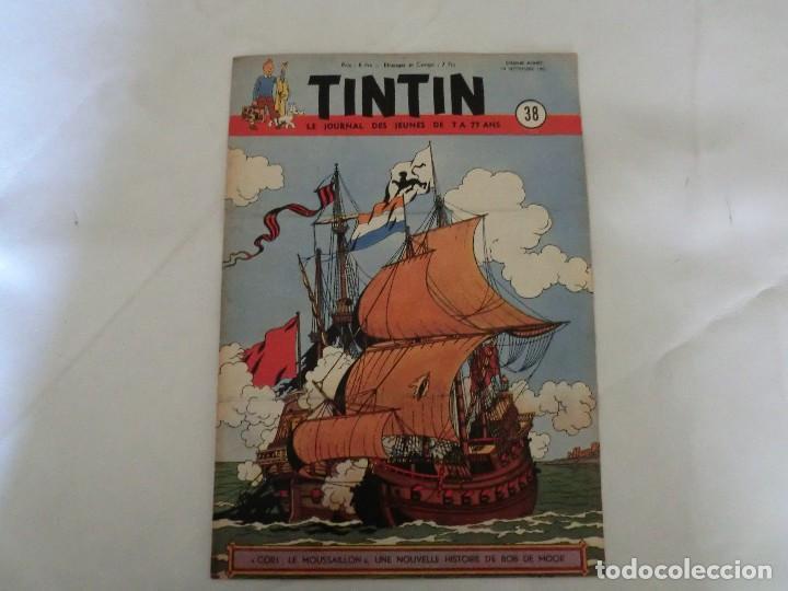 TINTIN LE JOURNAL DE JEUNES DE 7 A 77 ANS.6º ANNÉE 1951 Nº 38 .ED.BELGA (Tebeos y Comics - Comics Lengua Extranjera - Comics Europeos)