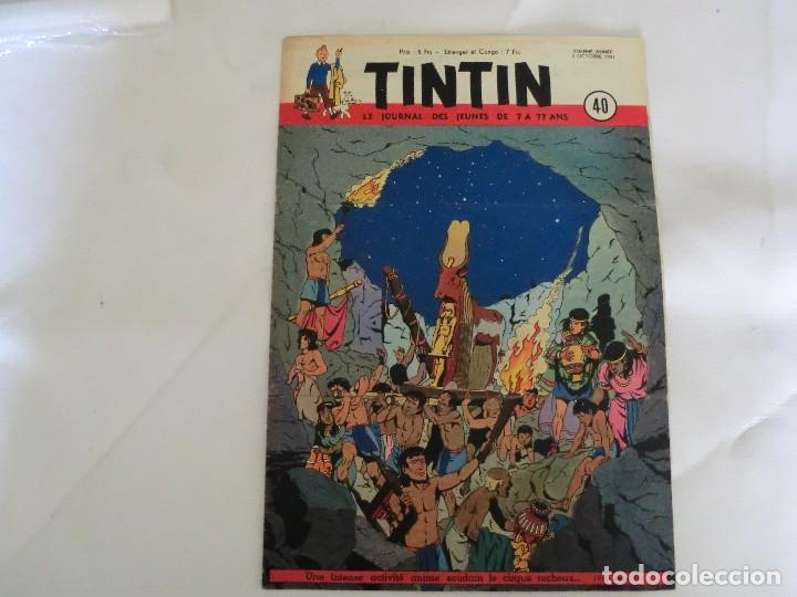 TINTIN LE JOURNAL DE JEUNES DE 7 A 77 ANS. 6º ANNÉE 1951 Nº 40 .ED.BELGA (Tebeos y Comics - Comics Lengua Extranjera - Comics Europeos)
