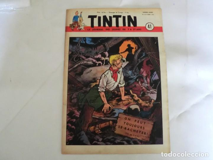 TINTIN LE JOURNAL DE JEUNES DE 7 A 77 ANS.6º ANNÉE 1951 Nº 41.ED.BELGA (Tebeos y Comics - Comics Lengua Extranjera - Comics Europeos)