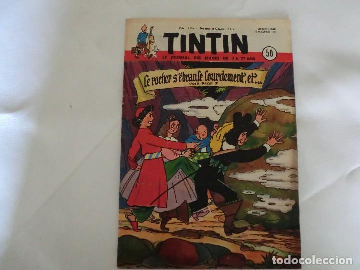 TINTIN LE JOURNAL DE JEUNES DE 7 A 77 ANS 6º ANNÉE 1951 Nº 50.ED.BELGA (Tebeos y Comics - Comics Lengua Extranjera - Comics Europeos)