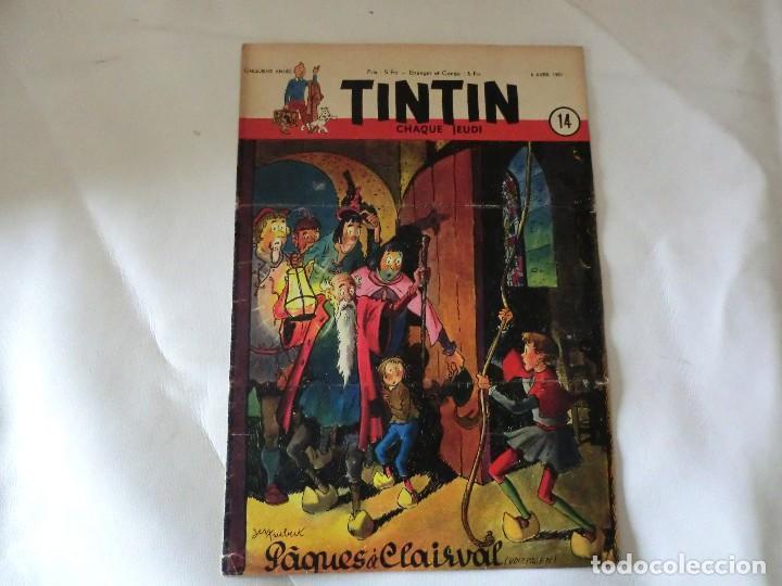 TINTIN LE JOURNAL CHAQUE JEUDI. 5º ANNÉE 1950 Nº14 .ED.BELGA (Tebeos y Comics - Comics Lengua Extranjera - Comics Europeos)