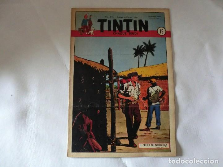 TINTIN LE JOURNAL CHAQUE JEUDI. 5º ANNÉE 1950 Nº16 .ED.BELGA (Tebeos y Comics - Comics Lengua Extranjera - Comics Europeos)