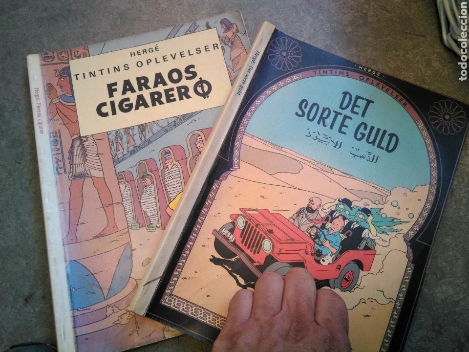 LOTE DE 2 COMIC TINTIN EDICION DANESA EDICION AÑOS 1982 Y 1983 RESPECTIVAMENTE (Tebeos y Comics - Comics Lengua Extranjera - Comics Europeos)