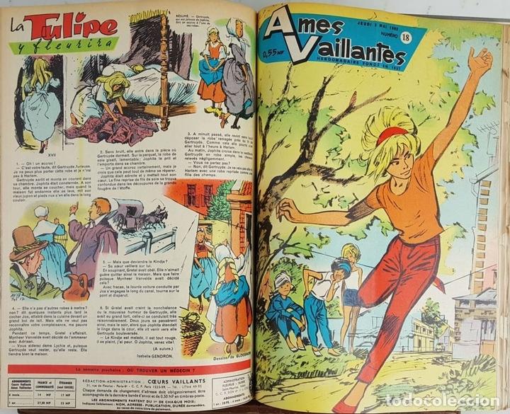 Cómics: 25 REVISTAS JUVENILES. AMES VAILLANTES. EDIT. COEURS VAILLANTS. FRANCIA. 1962. - Foto 2 - 128509747