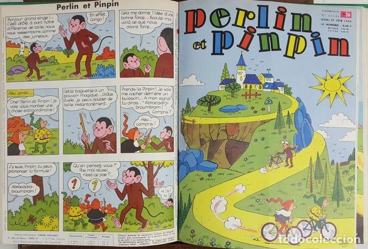 Cómics: PERLIN ET PINPIN. COLECCION DE 50 NÚMEROS. EDIT. COEURS VAILLANTS. 1962/1963. - Foto 2 - 128513303