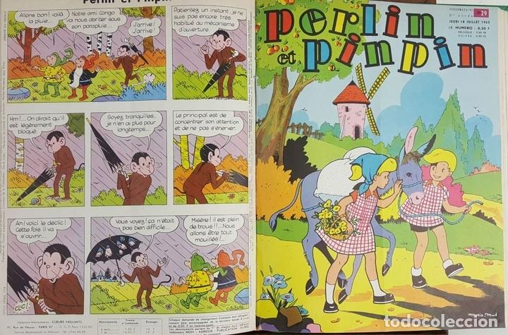 Cómics: PERLIN ET PINPIN. COLECCION DE 50 NÚMEROS. EDIT. COEURS VAILLANTS. 1962/1963. - Foto 7 - 128513303