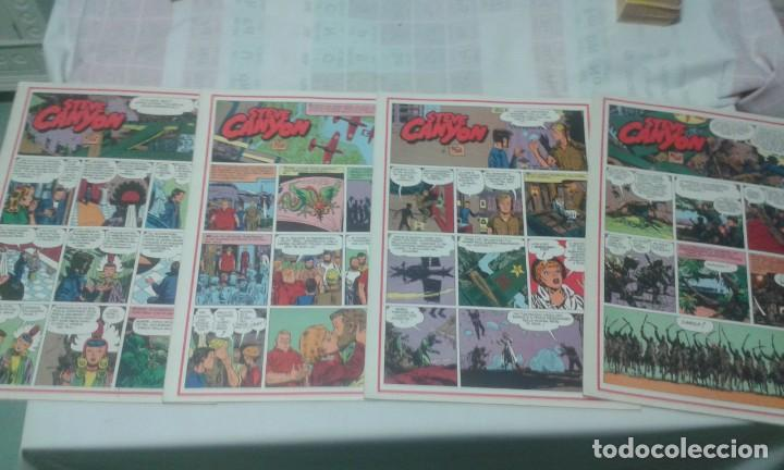 LOTE DE 4 TEBEOS DE STEVE CANYON, GRAN FORMATO, EN ITALIANO. (Tebeos y Comics - Comics Lengua Extranjera - Comics Europeos)