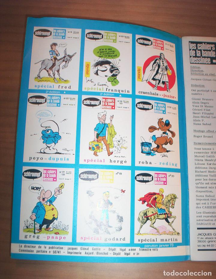 Cómics: SCHTROUMPF - LES CAHIERS DE LA BANDE DESSINÉE - NÚMERO 13 - AÑO 1973 - MUY BUEN ESTADO - Foto 2 - 136642018