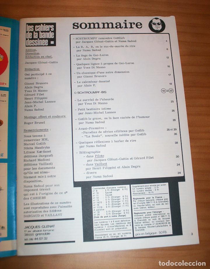 Cómics: SCHTROUMPF - LES CAHIERS DE LA BANDE DESSINÉE - NÚMERO 13 - AÑO 1973 - MUY BUEN ESTADO - Foto 3 - 136642018
