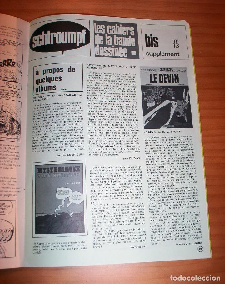 Cómics: SCHTROUMPF - LES CAHIERS DE LA BANDE DESSINÉE - NÚMERO 13 - AÑO 1973 - MUY BUEN ESTADO - Foto 5 - 136642018