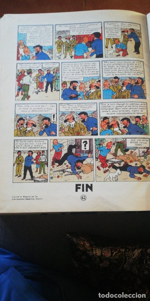 Cómics: TINTIN ON A MARCHE SUR LA LUNE Edition original B11/ 1954.collection hergé.casterman paris.frances - Foto 9 - 197264307