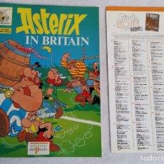 Cómics: ASTERIX IN BRITAIN. EDICIONES DEL PRADO. A 14. STUDY COMICS. INCLUYE GLOSARIO. GLOSSARY.. Lote 139947186