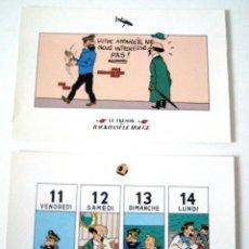 Cómics: 2 POSTALES TINTIN - EL TESORO DE RACKHAM EL ROJO. Lote 145888746
