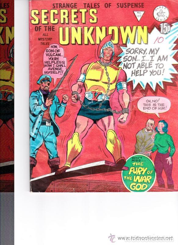 SECRETS OF UNKNOWN Nº169- REINO UNIDO (Tebeos y Comics - Comics Lengua Extranjera - Comics Europeos)