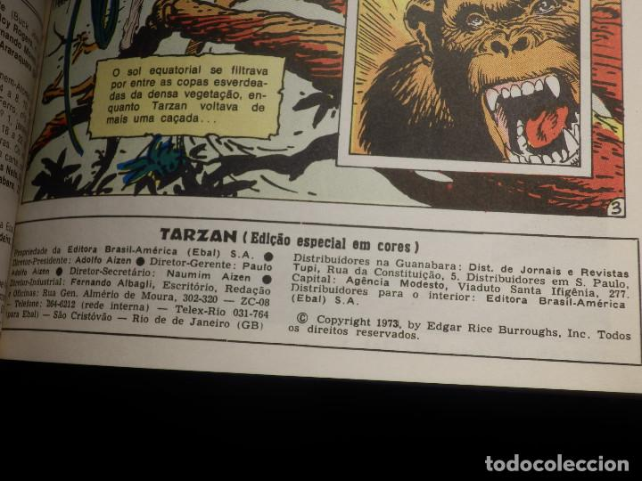 Cómics: Comic - Tarzán; El Hombre Mono 6 historias encuadernadas - EBAL - En Portugues - Brasil -1973 - Foto 3 - 147951274