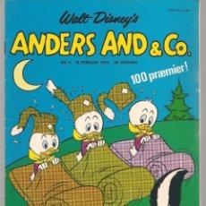 Cómics: ANDERS AND & CO. Nº 8. 18 FEBRUAR 1974. DANÉS. (B/A11). Lote 151877246