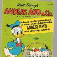 Cómics: ANDERS AND & CO. Nº 49. 2 DECEMBER 1974. DANÉS. (B/A11). Lote 151877510