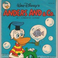Cómics: ANDERS AND & CO. Nº 7. 14 FEBRUAR 1977. DANÉS. (B/A11). Lote 151877774