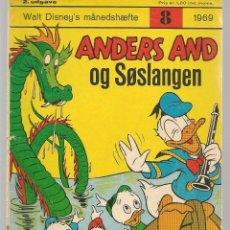Cómics: ANDERS AND. Nº 8. 1969. DANÉS. (B/A11). Lote 151878718