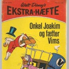 Cómics: EKTRA - HAEFFE. WALT DISNEY.´S. Nº 10. 1970. DANÉS. (B/A11). Lote 151878998