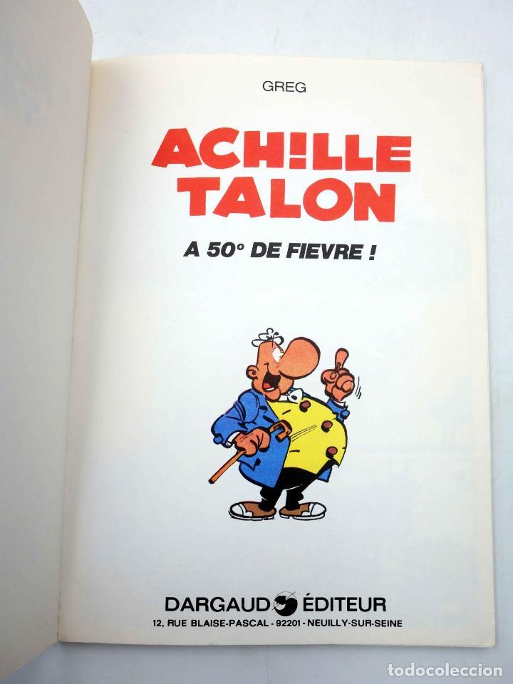 Cómics: COLLECTION 16 22 16/22 Nº 21. ACHILLE TALON A 50º DE FIEVRE (Greg) Dargaud, 1977 - Foto 3 - 152128038