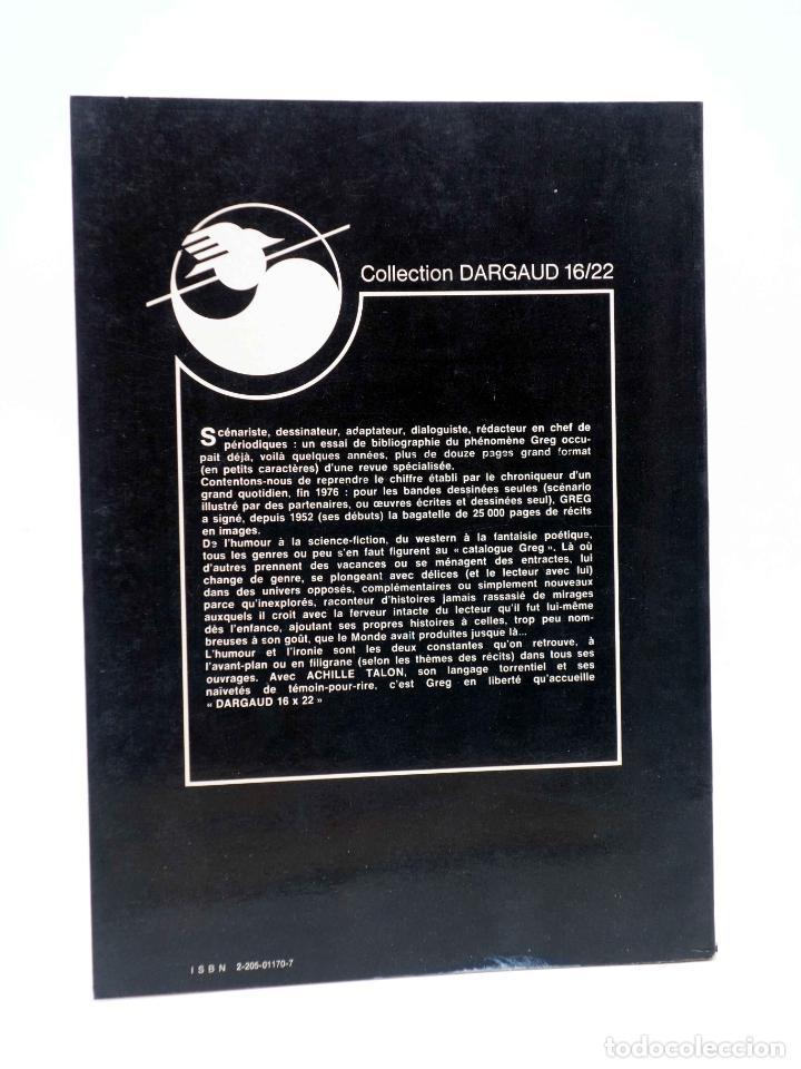 Cómics: COLLECTION 16 22 16/22 Nº 27. ACHILLE TALON LABC DE LA BD (Greg) Dargaud, 1978 - Foto 2 - 152128042