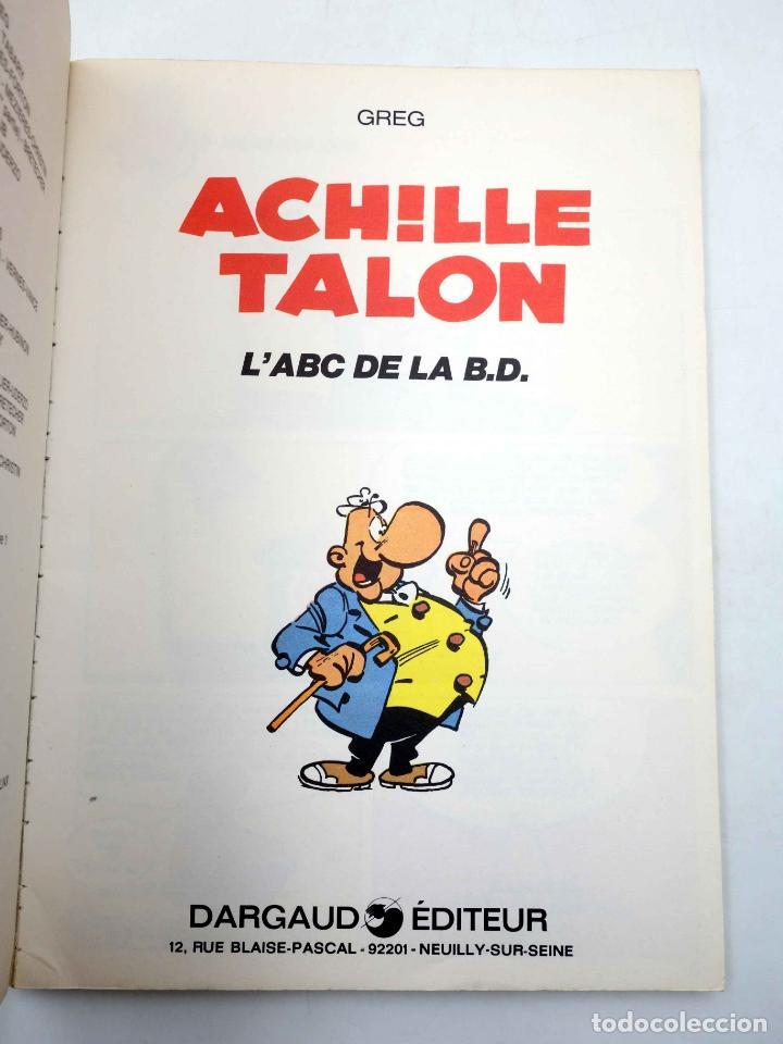 Cómics: COLLECTION 16 22 16/22 Nº 27. ACHILLE TALON LABC DE LA BD (Greg) Dargaud, 1978 - Foto 3 - 152128042