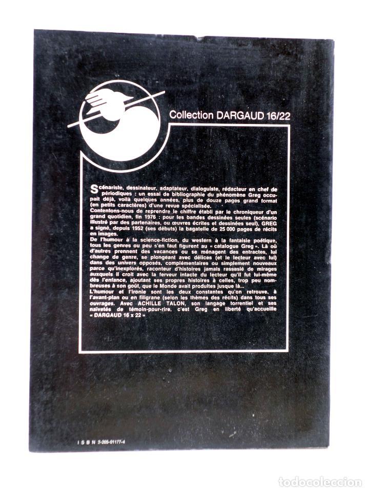 Cómics: COLLECTION 16 22 16/22 Nº 34. ACHILLE TALON ET LE MAL APPRIS DAMIS (Greg) Dargaud, 1978 - Foto 2 - 152128050