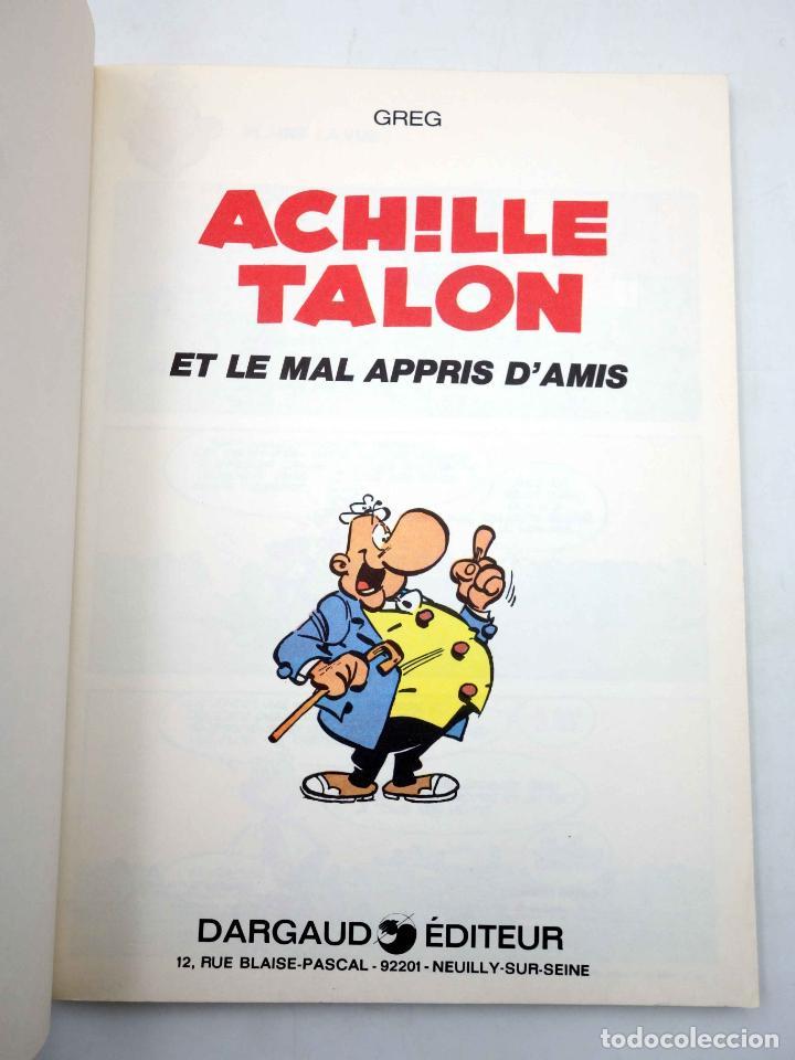 Cómics: COLLECTION 16 22 16/22 Nº 34. ACHILLE TALON ET LE MAL APPRIS DAMIS (Greg) Dargaud, 1978 - Foto 3 - 152128050