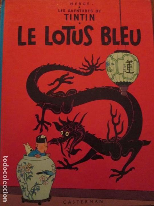 LE LOTUS BLEU-HERGE-TINTIN -CASTERMAN (Tebeos y Comics - Comics Lengua Extranjera - Comics Europeos)