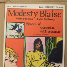 Cómics: MODESTY BLAISE. PETER O'DONNELL & JIM HOLDAWAY. N. 79. SPECIAL CACCIA ALL'UOMO. ED. C. CONTI.. Lote 156838364