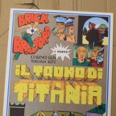 Cómics: BRICK BRADFORD. IL TRONO DI TITANIA. 4ª PARTE. COMIC ART EDITRICE. ITALIANO. 1977. Lote 156839270