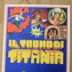Cómics: BRICK BRADFORD. IL TRONO DI TITANIA. 5ª PARTE. COMIC ART EDITRICE. ITALIANO. 1977. Lote 156839352