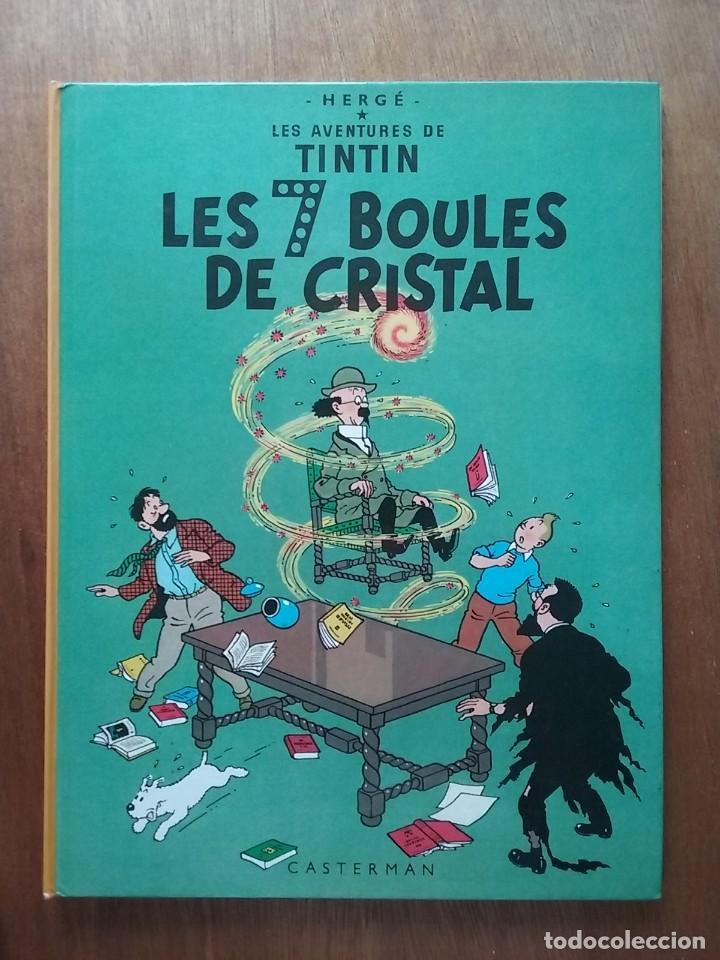 LES AVENTURES DE TINTIN, LES 7 BOULES DE CRISTAL SEPT, HERGE, CASTERMAN, 1982 (Tebeos y Comics - Comics Lengua Extranjera - Comics Europeos)
