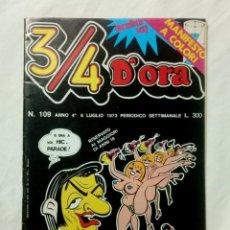 Cómics: 3/4 D'ORA Nº 109 * 1973 * ANNO 4º * MILANO (ITALIA) CÓMIC ERÓTICO . Lote 161241910