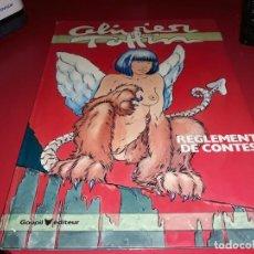 Cómics: OLIVIER TOFFIN : REGLEMENT DE CONTES GOUPIL EDITEUR 1985 FRANÇAIS. Lote 165161014