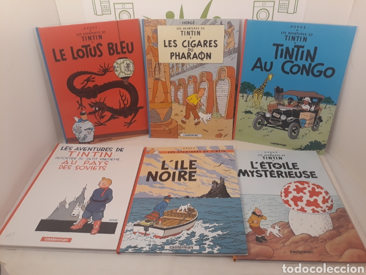 LOTE DE TEBEOS.LES AVENTURES DE TINTIN.HERGÉ.CASTERMAN. (Tebeos y Comics - Comics Lengua Extranjera - Comics Europeos)